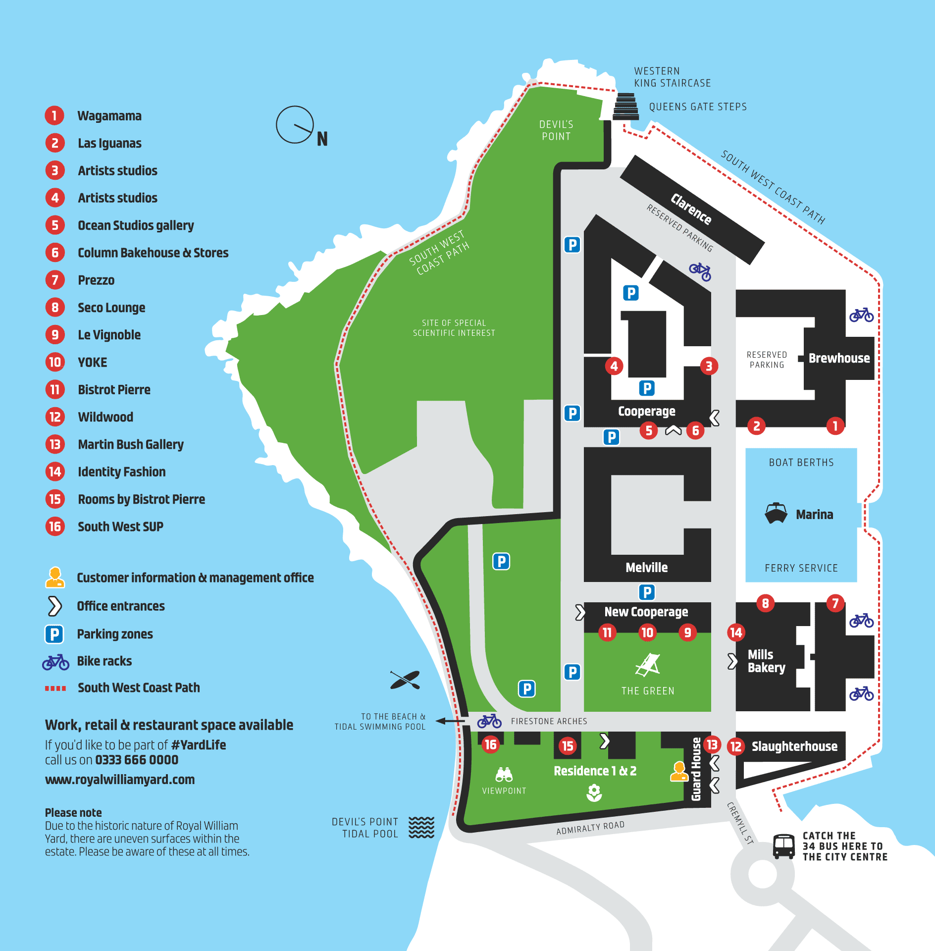 Royal William Yard   Site Map on